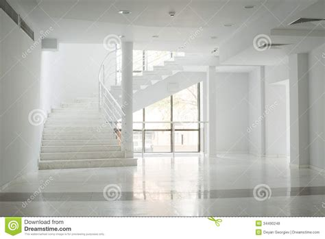 Building Interior Walls by Interior Of A Building With White Walls Royalty Free Stock