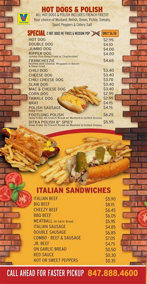 hot hot restaurant menu hot dog restaurants menu best restaurants near me