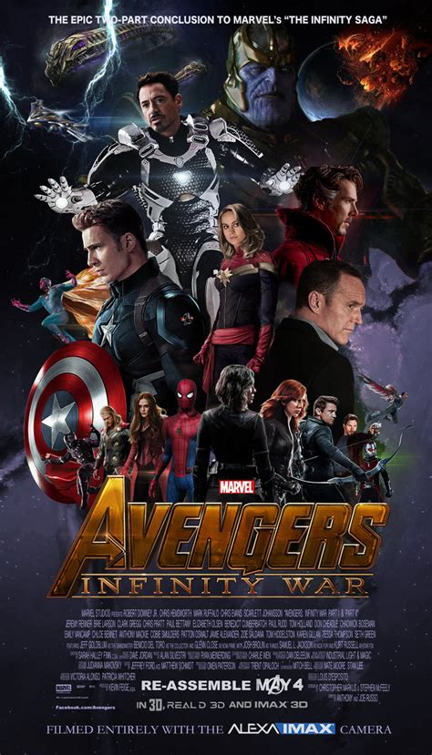 marvel s infinity war the of the marvel s infinity war fan made poster by