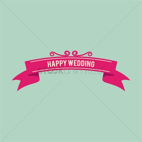 Banner Happy Wedding Banner Murah Banner Wedding Pink happy wedding banner vector image 1389918 stockunlimited