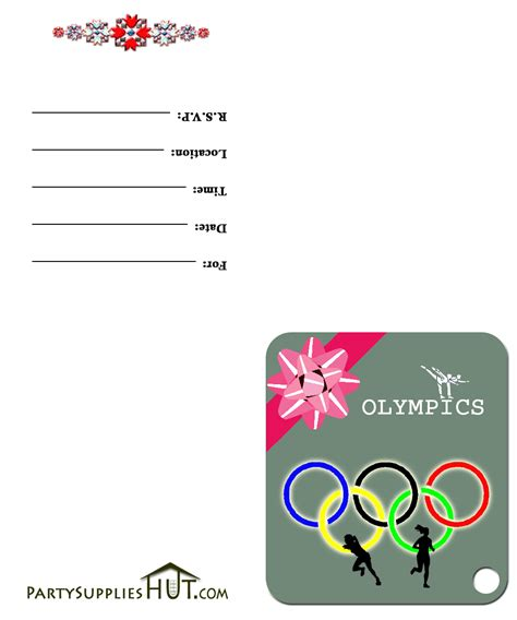 Olympics Invitations Party Invitations Ideas Olympic Invitation Template