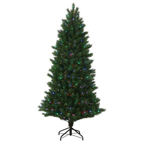 instant shape christmas trees vickerman 34399 7 5 x 56 quot oregon fir 600 multi color led lights tree s130277led