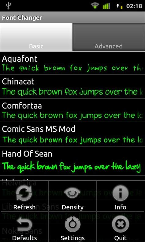 font for android change fonts on android device with free app