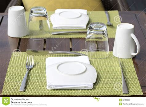 how to set up a table table setting for breakfast royalty free stock photos