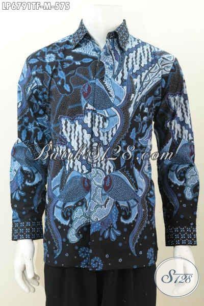 Kemeja Batik Clasic baju kemeja batik mewah halus size m pakaian batik elegan