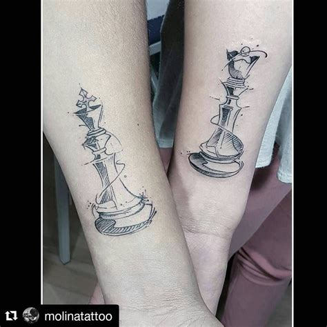 king and queen chess piece tattoos image result for chess tattoos tatspiration
