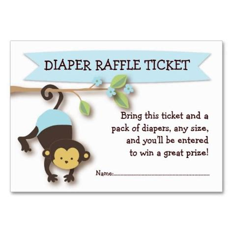 baby business card templates free raffle tickets business card templates and monkey