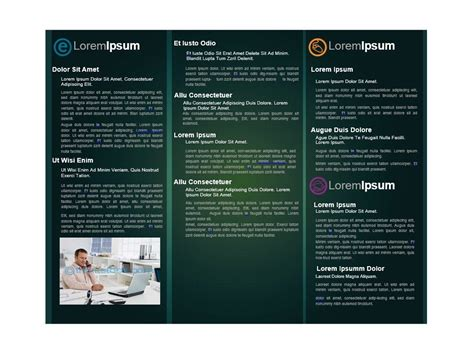 word doc brochure template ms word editable printable seasonal event