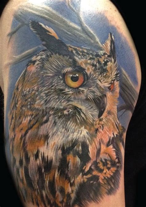 realistic owl tattoo 17 best ideas about realistic owl on