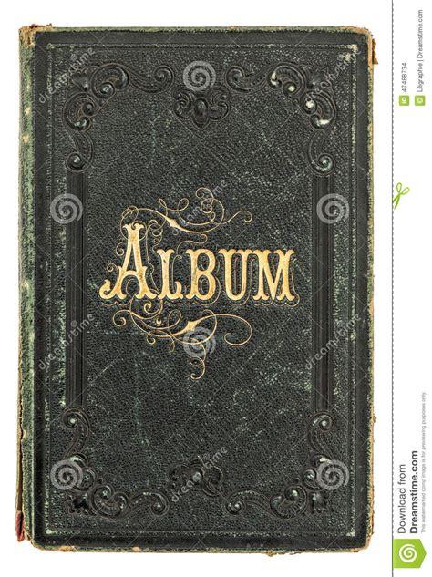 picture album book antique book with golden decoration vintage photo album