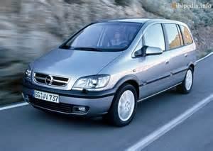 Opel Zafira 2003 2005 Opel Zafira 1 6 Related Infomation Specifications