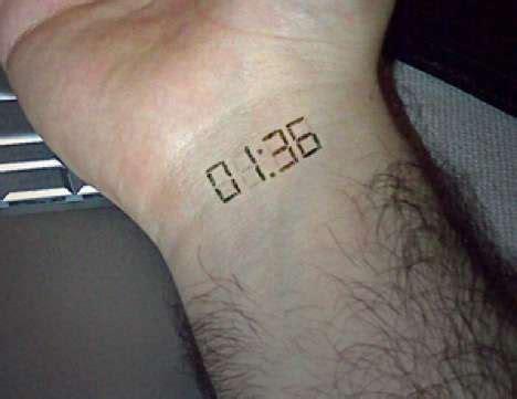 tattooed watches subdermal implant  francesco savini