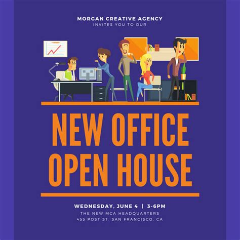 open office templates for invitations open house invitation templates canva