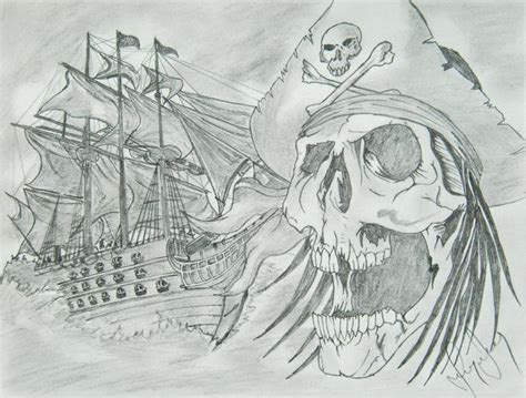 ionel grozavu pirate ship 2014 pencil drawing ship - How To Draw A Boat Coming Towards You