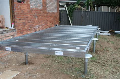 spantec steel foundation and piers shed