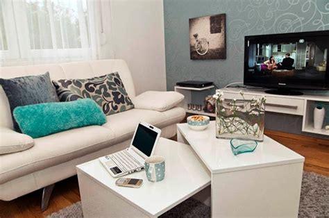 new home decorating tips sala integrada com a cozinha em azul