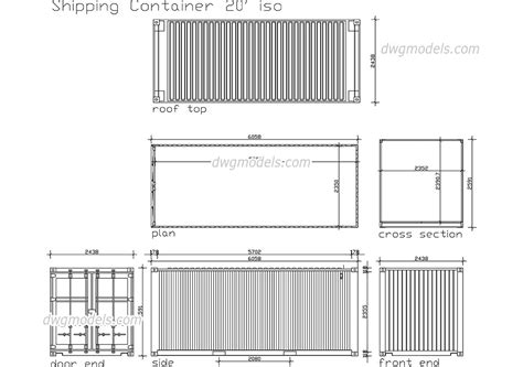 box auto dwg shipping container dwg free cad blocks