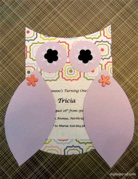 diy owl invitation template images templates design ideas