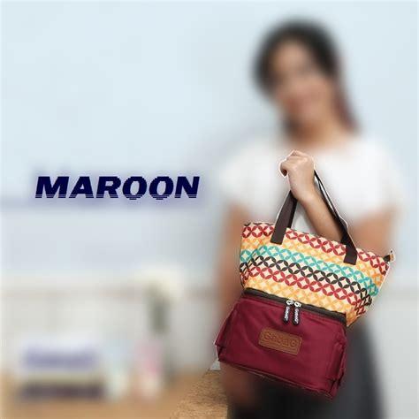 Gabag Cooler Bag Tas Pendingin Asi Ibu Menyusui Mutiara gabag maroon cooler bag tas pendingin asi stylish