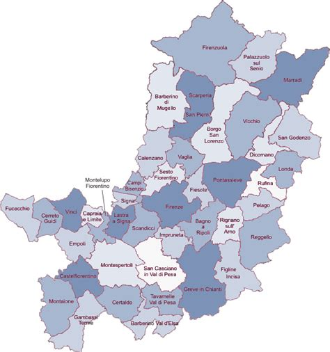 elenco comuni provincia di pavia i comuni citt 224 metropolitana di firenze