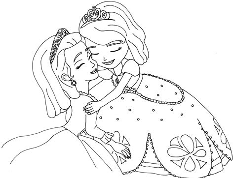 sofia coloring pages pdf sofia the first coloring pages sofia and amber hugged