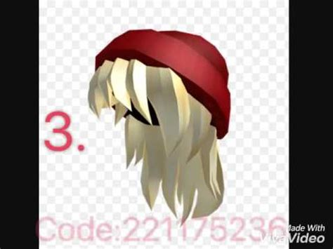 roblox code for long hair hair codes roblox 1 of roblox codes youtube