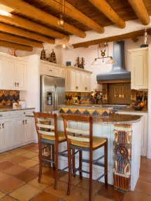 Southwest Kitchen Cabinets Southwestern Kitchen With White Cabinets Design Ideas