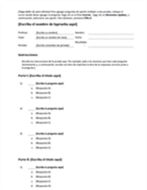 preguntas de español opcion multiple educaci 243 n office