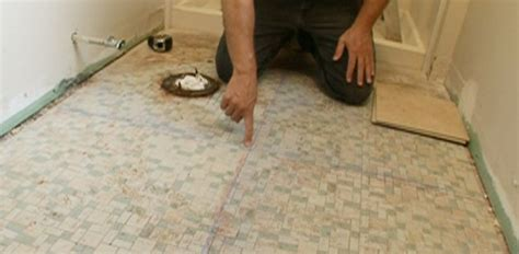 how to lay floor tile in a bathroom how to tile a bathroom floor today s homeowner