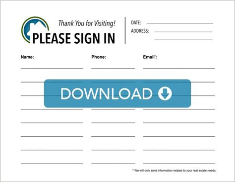 free open house post card templates real estate open house sign in sheet template 28 images