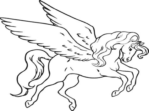 Coloring Page Unicorn With Wings by Pegasus Unicorn Coloring Pages Free Coloringsuite