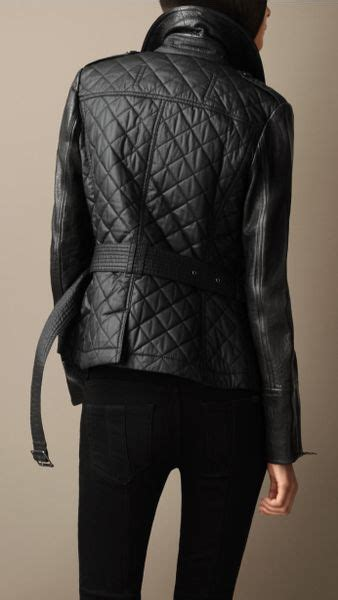 Burberry Leather Quilted Jacket by Burberry Leather Detail Quilted Jacket In Black Lyst