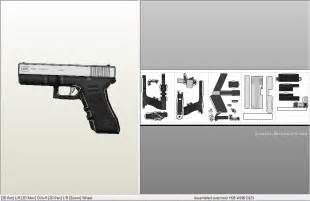 easy glock18c papercraft download by svanced on deviantart