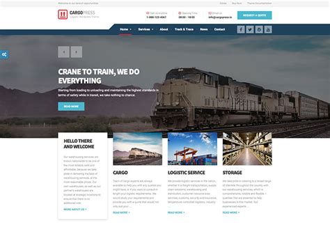 templates for railway website 75 best business services web design templates web