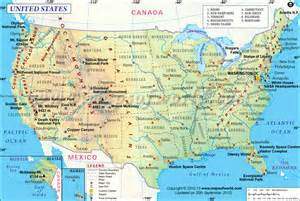 map of usa showing point of interest major cities