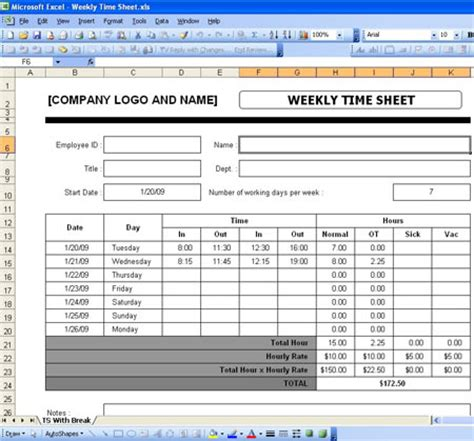 Excel Timesheet Templates Free Download Microsoft Excel Payroll Template