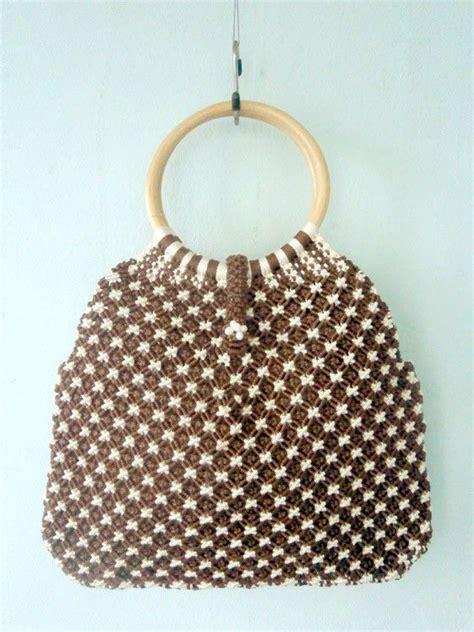 Macrame Shopping Bag - macrame shopping bag