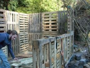 bels building a shed from used pallets