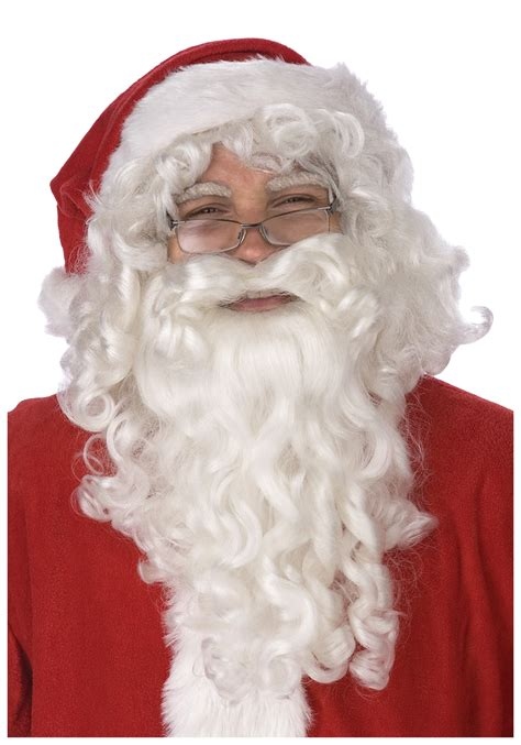 father christmass fake beard santa claus wig and beard set