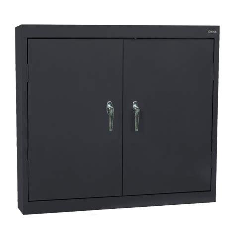 locking wall cabinet steel sandusky lee solid door wall cabinet shelf locking steel