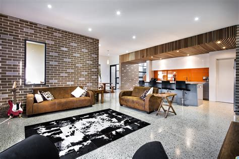 decorated homes interior house decorated in brick veneer inside and out modern