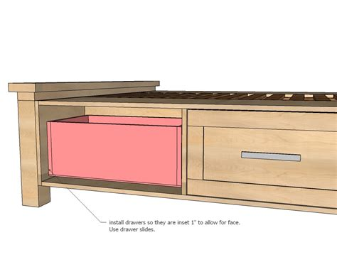 how to build a twin platform bed with drawers quick woodworking projects