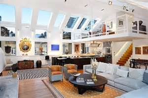 big loft dashing loft within a loft huge bi level apartment skylights on inclined ceiling of this