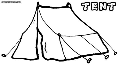 tent coloring page tent coloring pages coloring pages to and print
