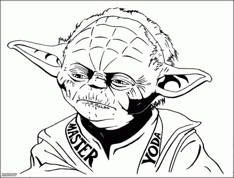 Star Wars Coloring Pages Yoda Coloring Home Yoda Pictures To Color