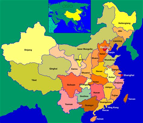 China Map Provinces by Prinzing Family Of Five Map Of China S Provinces
