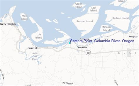 Columbia River Tide Tables by Settlers Point Columbia River Oregon Tide Station Location Guide