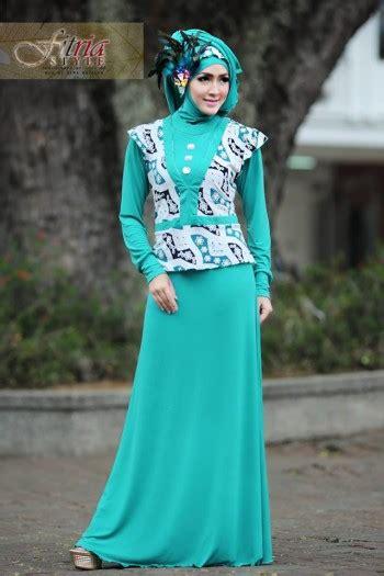 Dress Jersey Berlengan azarine by fitria style tosca baju muslim gamis modern