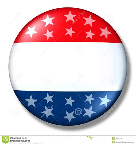 vote badge blank isolated patriotic election stock