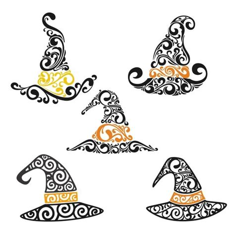 witch hat svg cuttable frames pin by mischelle wyatt on svg files silhouettes and